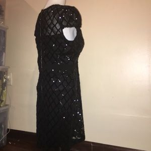 Just Me Dresses - JUST ME black Sequin dress size Large